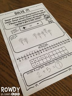 addition story problem freebie- using many different strategies!!