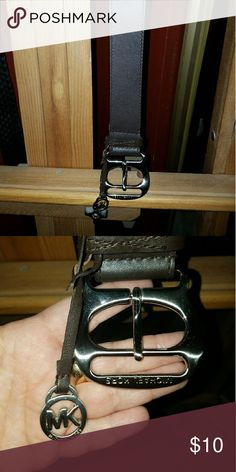 """Michael Kors 44"""" Leather Belt RePosh! Just arrived today and it isn't what I need. Lovely, dark brown. 44"""" belt. Hate to see it just sit in my closet so it should go. Michael Kors Accessories Belts"""