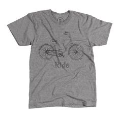 """""""Ride Bike Shirt"""" designed by Lena Wright. Minimal. Vintage. Hand-Drawn. What more could you ask for?"""