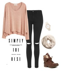 """""""Simply The Best"""" by kragrg ❤ liked on Polyvore featuring Topshop, Rock & Candy, H&M and MANGO"""