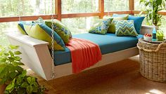 Build this hanging daybed and turn your porch into your favorite napping nook.