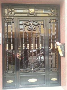 Wrought Iron Doors, Front Entrances, Gabriel, Furniture, Home Decor, Iron Art, Storage, Puertas, Archangel Gabriel