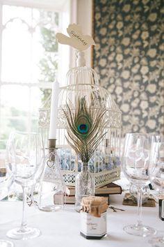 Peacock Decor, Peacock Theme, Peacock Wedding, Feather Centerpieces, Wedding Centerpieces, Wedding Decorations, Tall Centerpiece, Centerpiece Ideas, Great Gatsby Wedding