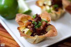 """Switch it up from the """"usual"""" barbecue this summer with these wildly flavorful Crispy Pork Belly Wonton Cups. Easy appetizer ready in 30 minutes or less! Easy Appetizer Recipes, Easy Snacks, Appetizers, Aioli, Pork Recipes, Cooking Recipes, What's Cooking, Curry Recipes, Recipies"""