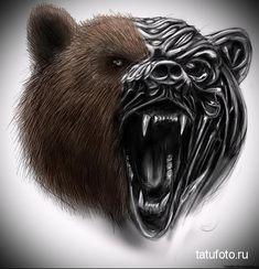 тату медведь в доспехах 2 - tatufoto.com