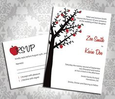 Wedding Invitation Fall Apple Tree Orchard Party by AllYouDesign, $3.50