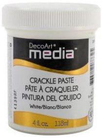 DECO ART MEDIA CRACKLE PASTE 4OZ WHITE DMM17