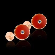 Boutons de manchette Circus Cornaline et pavage Aigue Marine en or rose #boutonsdemanchette #Circus #Cornaline #AigueMarine #OrRose #bijouxhomme #surmesure @Jaubalet