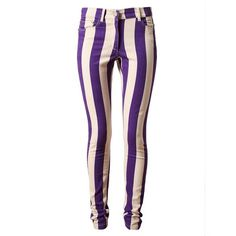 HOUSE OF HOLLAND Striped Denim Jeans ($225) ❤ liked on Polyvore