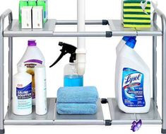 12 Amazing Kitchen Sink Organization Ideas #kitchenorganizationideas 12 Amazing Kitchen Sink Organization Ideas #bathroomorganizationideas Having a clean and organized kitchen eases your tasks much better than a cluttered one. These are my 12 amazing kitchen sink organization ideas to help you!<br> Having a clean and organized kitchen eases your tasks much better than a cluttered one These are my 12 amazing kitchen s Sink Shelf, Bathroom Storage Shelves, Diy Storage, Storage Cart, Storage Ideas, Table Storage, Bedroom Storage, Storage Solutions, Kitchen Sink Organization