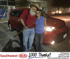 https://flic.kr/p/N4M8Ee | #HappyAnniversary to Florene and your 2016 #Kia #Soul from Jerry Tonubbee at Southwest Kia Mesquite! | www.deliverymaxx.com/DealerReviews.aspx?DealerCode=VNDX