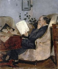 Christian Munch on the Couch.1881 by Edvard Munch