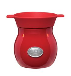 Velata's Glossy Rouge Warmer transforms your fondue experience—without the fuss  www.SoFondueofYou.com