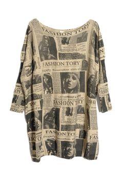 Oversized Newspaper Batwing Cardigan