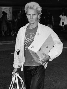 Sting Singer of Police AKA Gordon Sumner Arriving at Heathrow Airport from USA Tour, 1983