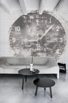 Wand inspiratie | Behang inspiratie | Time off behang van behangfabriek