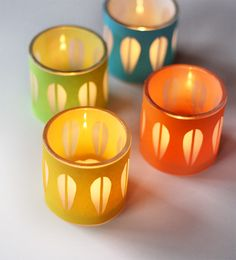 How About Orange: DIY Cathrineholm candleholders