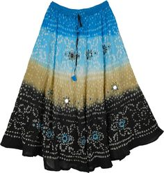 Celestial Sparkle Tie Dye Long Skirt