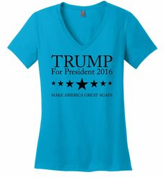 Trump For President 2016 T Shirt Republican Vote Election America Change