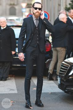 This is a perfect skinny fitted suit