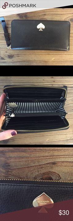 kate spade wallet Gently used, black kate spade wallet kate spade Bags Wallets