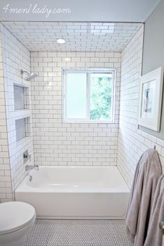 Last week I dished about the pros and cons of cement counters. This week I'm continuing on with our main bathroom review and doing some tile and potty talk. This toilet gets an A+++ in design…