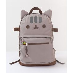 Pusheen the Cat backpack (€25) ❤ liked on Polyvore featuring bags, backpacks, cat, cat bag, knapsack bag, backpack bags, rucksack bag and cat backpack