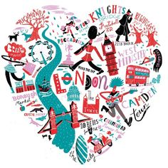Love London print | Migy Blanco. A memorabilia of our time in London. #London #art print