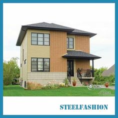 This Steel frame building construction has three bedrooms and a bathroom on the second floor. The upper part of the entrance corresponding to the entrance on the first floor is a cloakroom. Steel Frame, Second Floor, Entrance, Two By Two, Bedrooms, Shed, Construction, Outdoor Structures, Flooring