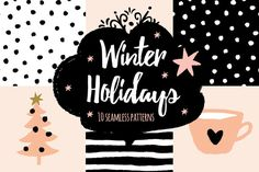 Winter Holidays seamless patterns by OJardin on Creative Market