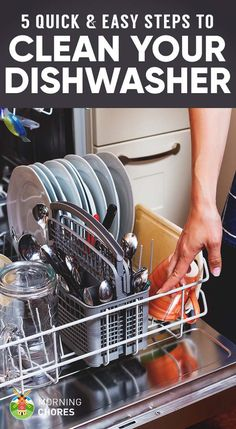We give you 5 quick and easy steps explaining how to clean a dishwasher, a task often neglected yet so vital for your family's health.