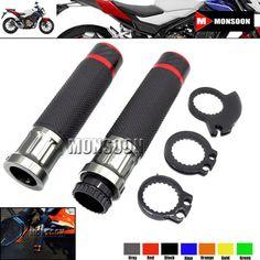 Strada 7 Racing CNC Black Handle Bar Ends Honda CBR500R CB500F CB500X CB600F
