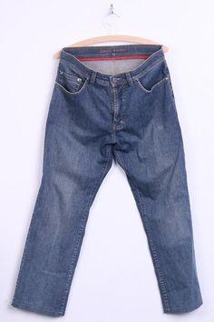Pierre Cardin Mens W33 L34 Trousers Jeans Blue Cotton - RetrospectClothes
