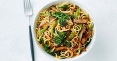 This super-saucy vegetarian noodle stir-fry can be on the table in 30 minutes.