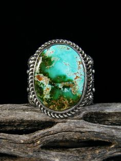 Natural Royston Turquoise Ring, Size 10
