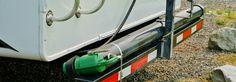 Current bumper sewer hose storage
