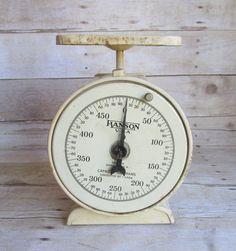 Vintage Metal Scale Hanson U.S.A. Grams by WhatsNewOnTheMantel