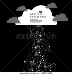 Abstract technology futuristic Rain with Clouds