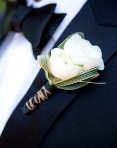 WeddingChannel Galleries: White Groom Boutonniere