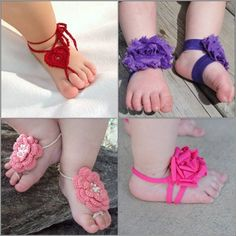 Baby girl clothes diy | Baby Girls' Barefoot Sandals – Cuteness with Style!