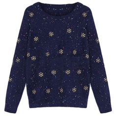 Blue Snowflakes Ladies Mohair Pullover Ugly Christmas Sweater (£16) ❤ liked on Polyvore featuring tops, sweaters, pullover sweaters, blue snowflake sweater, blue pullover, mohair sweaters and sweater pullover