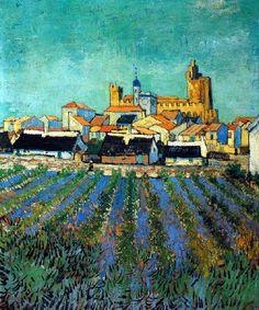 Vincent Van Gogh - Post Impressionism - Arles - Vue des Saintes-Maries