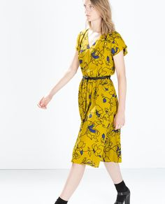 Image 3 of PRINTED DRESS WITH BELT from Zara