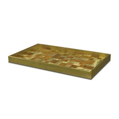 BRASS AND SHELL PUZZLE TRAY by PALECEK