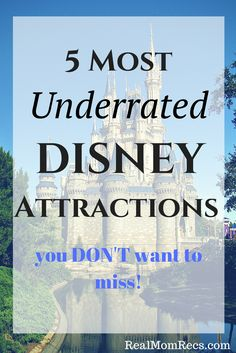 Most underrated attractions at Walt Disney World! Do NOT miss these! Some of the best rides and shows you don't see on every list! #wdw #disneyvacation #disney