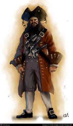 Edward Teach aka Blackbeard by Christian Guldager