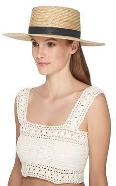 Klint Bolero Hat by JANESSA LEONE Now Available on Moda Operandi
