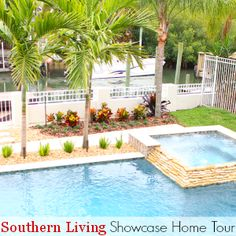 The gorgeous outdoor entertaining area at the Southern Living Showcase Home  is like the cherry on top - See more of this amazing home's design & decor at Fresh Idea Studio