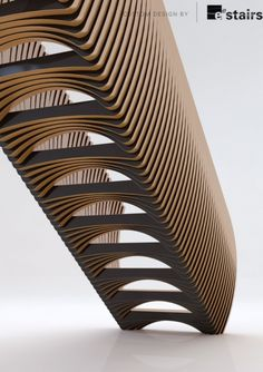 Not sure what these stairs are made of .... but it could be created using wood. Layer Stairs - EeDesign