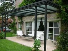 Vinyl pergola with retractable canopy provides your patio or deck with the necessary shade. Having some outdoor space and. Diy Pergola, Outdoor Pergola, Backyard Pergola, Patio Roof, Outdoor Decor, Pergola Ideas, Black Pergola, Corner Pergola, Pergola Lighting
